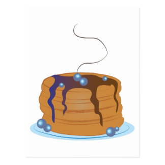 Blueberry Pancakes Postcard
