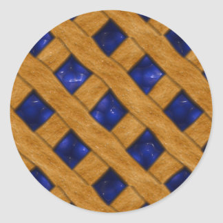 Blueberry Pie, Berry, Dessert, Bakery, Blueberry Classic Round Sticker