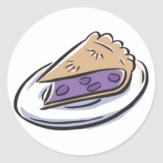 Blueberry Pie Classic Round Sticker