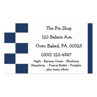 Blueberry Pie Colors Business Cards