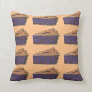 Blueberry Pie Slice Baking Foodie Pillow