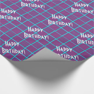 Blueberry Pie Squares Birthday Wrapping Paper