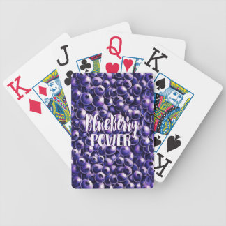 Blueberry power Fresh berry illustration Bicycle Playing Cards