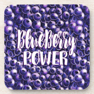 Blueberry power Fresh berry illustration Coaster