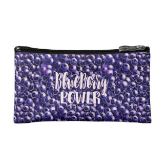 Blueberry power Fresh berry illustration Cosmetic Bag