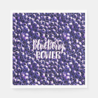 Blueberry power Fresh berry illustration Disposable Napkins