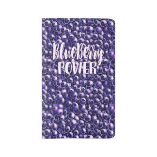 Blueberry power Fresh berry illustration Large Moleskine Notebook