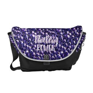 Blueberry power Fresh berry illustration Messenger Bag