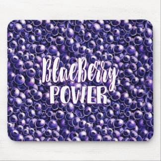 Blueberry power Fresh berry illustration Mouse Pad
