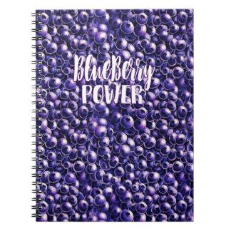 Blueberry power Fresh berry illustration Notebook