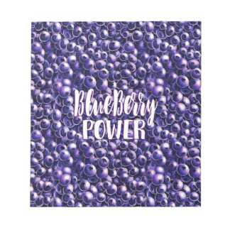 Blueberry power Fresh berry illustration Notepad