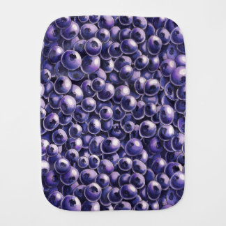 Blueberry power Fresh berry  illustrations Burp Cloth