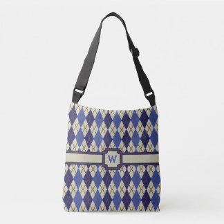 Blueberry Scone Argyle All-Over-Print Bag