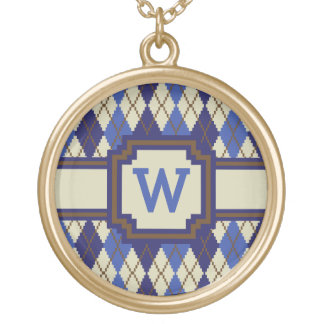 Blueberry Scone Argyle Necklace