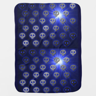 Blueberry Skulls baby blanket