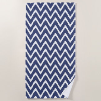 Blueberry Southern Cottage Chevrons Beach Towel