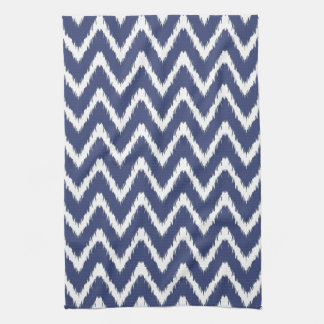 Blueberry Southern Cottage Chevrons Tea Towel