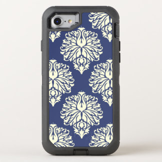Blueberry Southern Cottage Damask OtterBox Defender iPhone 8/7 Case