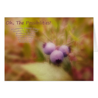 BlueBerry Time Greeting Card