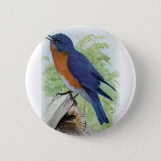 Bluebird 6 Cm Round Badge