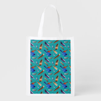 Bluebird and Cardinal Reusable Bag