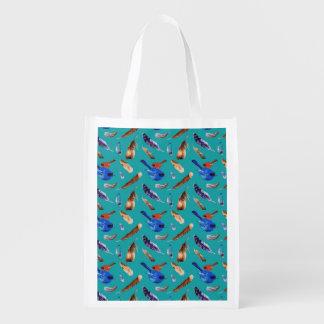 Bluebird and Cardinal Reusable Bag