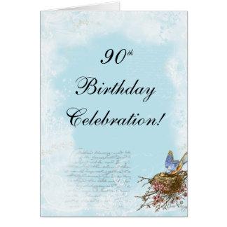 Bluebird and Nest Birthday Invitation