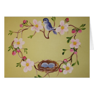 Bluebird & Apple Blossoms Card