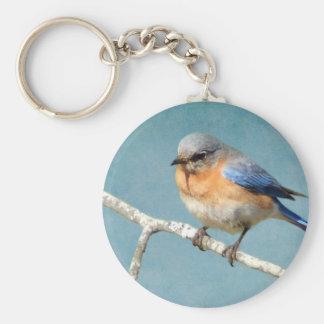 Bluebird Basic Round Button Key Ring