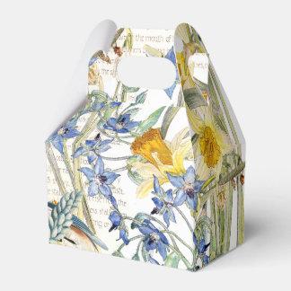 Bluebird Birds Narcissus Borage Flowers Favor Box