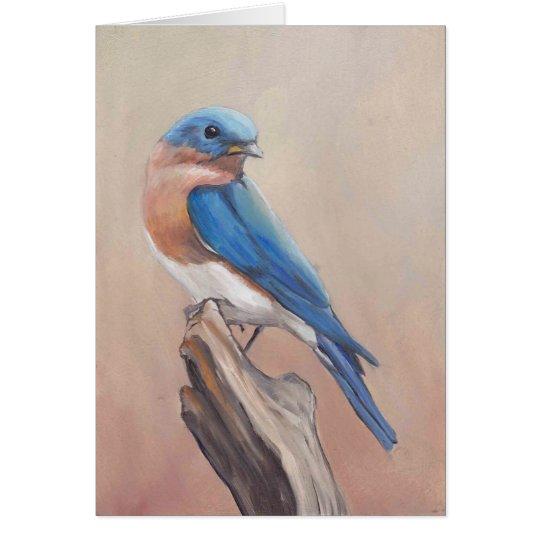 """""""Bluebird"""" Blank Art Note Card"""