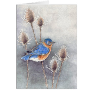 Bluebird Blank Card