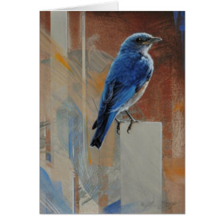 Bluebird Blank Card by Andrew Denman