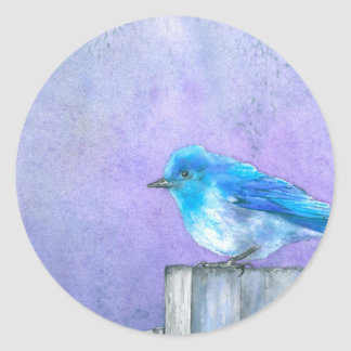 Bluebird Bliss Classic Round Sticker