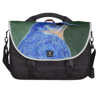Bluebird Canvas Painting Bags For Laptop
