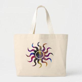 Bluebird Circle Sun Jumbo Tote Canvas Bags