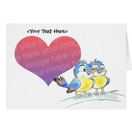 Bluebird couple card template