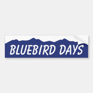 Bluebird Days Colorado Bumper Sticker