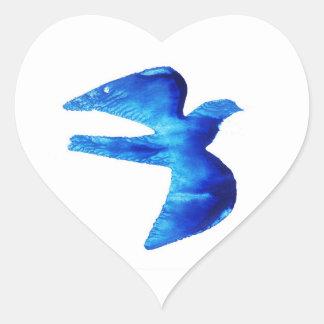 """""""Bluebird"""" Heart Sticker"""