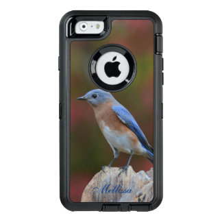 Bluebird in autumn OtterBox defender iPhone case