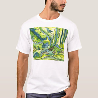 Bluebird in forest T-Shirt