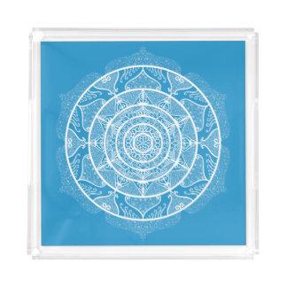 Bluebird Mandala Acrylic Tray