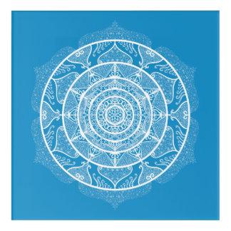 Bluebird Mandala Acrylic Wall Art