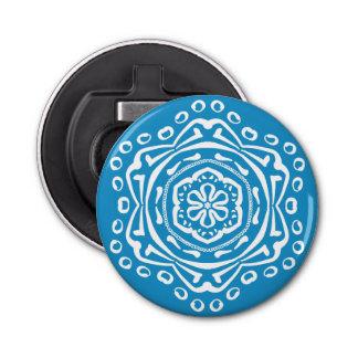 Bluebird Mandala Bottle Opener