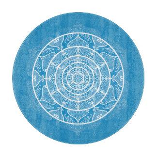 Bluebird Mandala Cutting Board