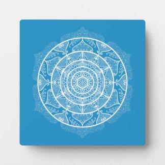 Bluebird Mandala Plaque