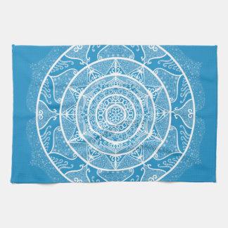Bluebird Mandala Tea Towel