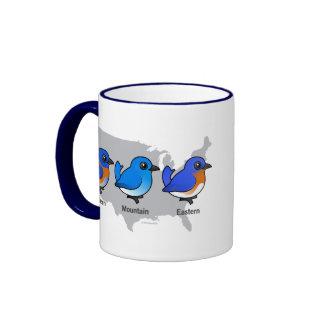 Bluebird Map Coffee Mugs