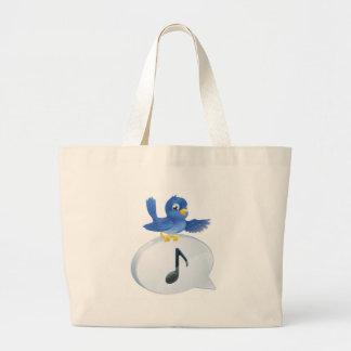 Bluebird musical note speech bubble bag