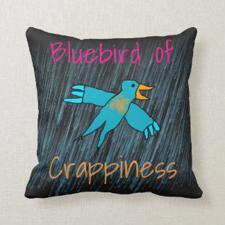Bluebird of Crappiness Personalized Cushion